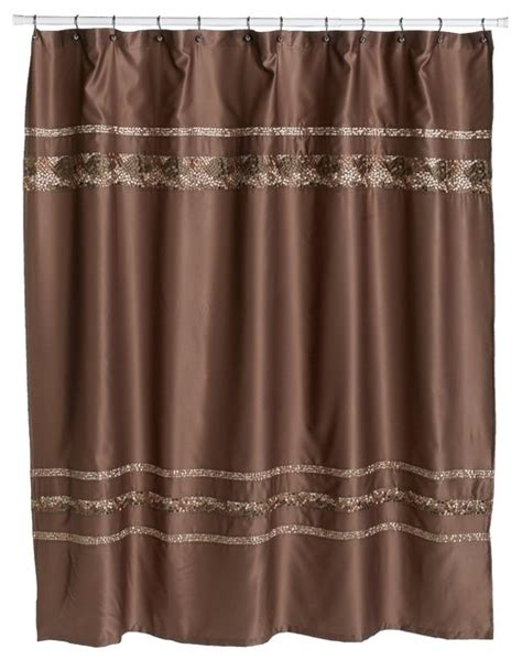 brown mosaic shower curtain croscill mosaic embroidered fabric shower curtain mocha