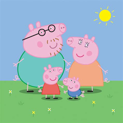 peppa pig family vector free download