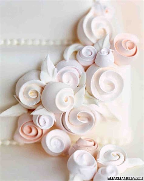 Decoration Meringue by Swiss Meringue Ribbon Roses Recipe Martha Stewart Weddings