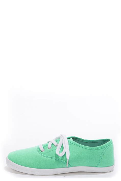 lounge marsden 01 mint canvas lace up sneakers