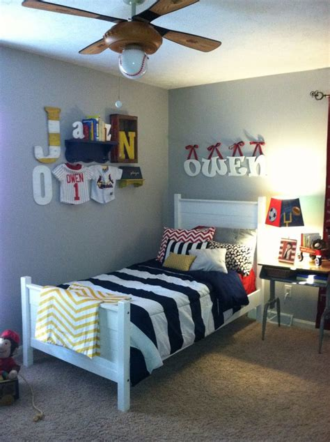 boy room vintage boys room sports navy red yellow kid rooms
