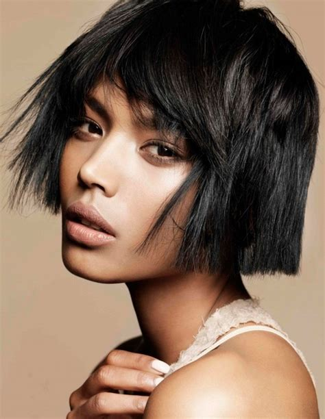 short haircuts for fine dark hair the makeupc and hairstyles hairstyles for black women