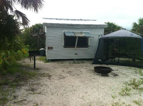 Cayo Costa Cabins by Back Of Cabin 7 Our Own Awning Provided Picnic Table