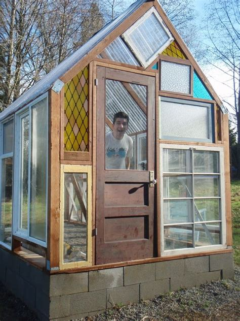 Greenhouse From Salvaged Windows Decor Greenhouse From Salvaged Windows Decor Dishfunctional Designs Window Of Opportunity