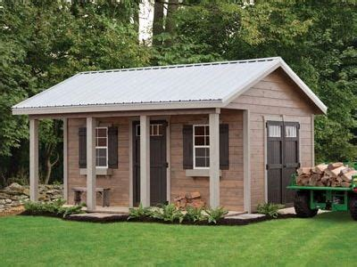 woodshed style shed   metal roof  oar house