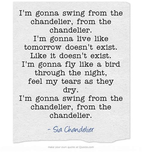 Lyrics Of Chandelier 1000 Images About Sia On Pinterest Maddie Ziegler Grammy Award And Lyrics