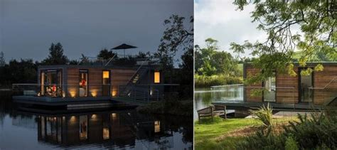 modular prefabricated floating house by friday modular floating weekend house by friday
