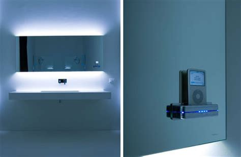 bathroom music system mp3 mirror for the bathroom singer