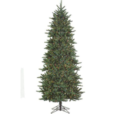 walmart in store pre lit slim tree on sale 9 pre lit slim fresh cut carolina frasier artificial tree multi walmart