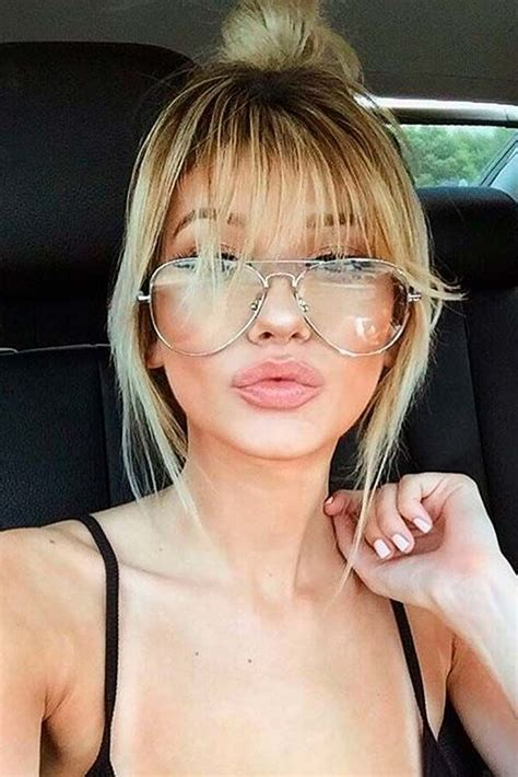 different types of bangs for hair 21 nice and flattering hairstyles with bangs bang hair
