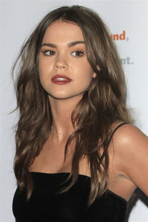 how to do hair like maia mitchell wavy maia mitchell wavy medium brown long layers loose waves