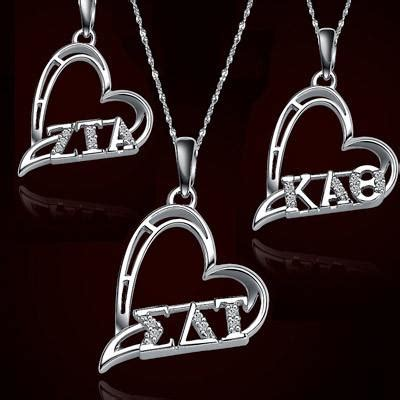 custom sorority jewelry lavaliers necklaces rings