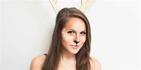 easy tutorial  deer inspired halloween makeup costume