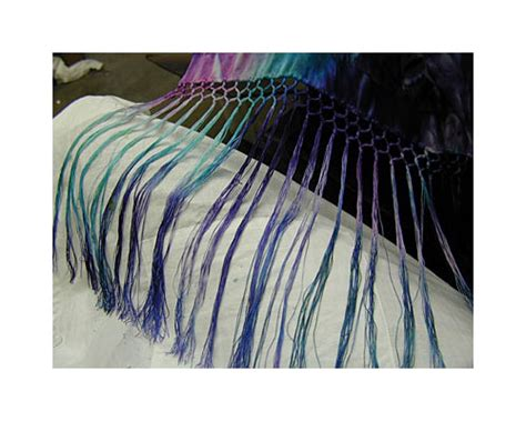 spray dyed devore satin scarf