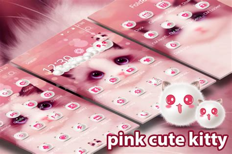 cute kitty themes apk download cartoon pink cute kitty theme for pc