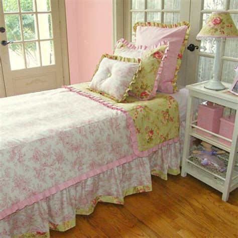 pink toile bedding pink green floral toile bedding c g bedroom pinterest