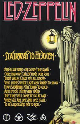 led zeppelin stairway  heaven poster woodstock trading company