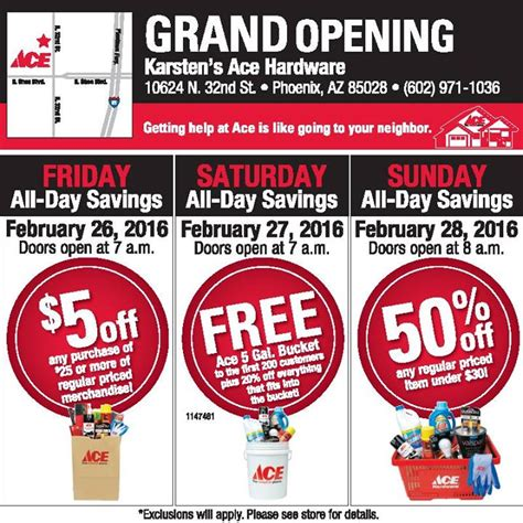 ace hardware opening hours paradise hills ace hardware grand opening sale 32 renewed