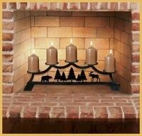 Fireplace Candle Holder Black Wrought Iron by Fireplace Candle Holders Stands Durable Wrought Iron