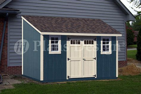 backyard deluxe storage shed plans lean  roof