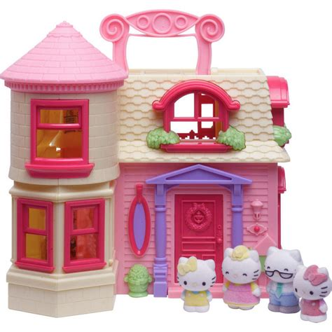 Hello Home hello happy home play set fold out doll house with 4