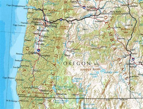 satellite map of oregon oregon map and oregon satellite image