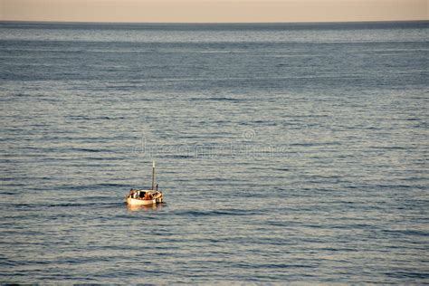 small boat big ocean small boat big ocean stock photo image of sports inlet