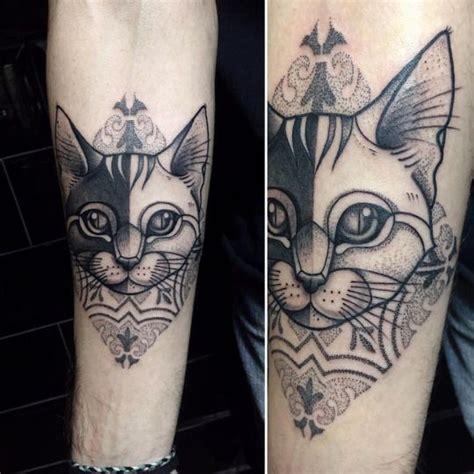 Pattern Cat Tattoo | 25 best ideas about cat portrait tattoos on pinterest