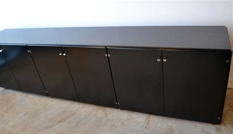 Office Credenza Black black lacquered office credenza by gianfranco frattini italy at 1stdibs