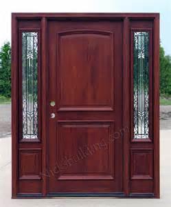 Exterior Door Sidelights Exterior Doors With Sidelights Solid Mahogany Entry Doors