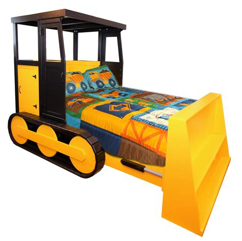 bulldozer toddler bed buy a hand made bulldozer bed for full size mattress set