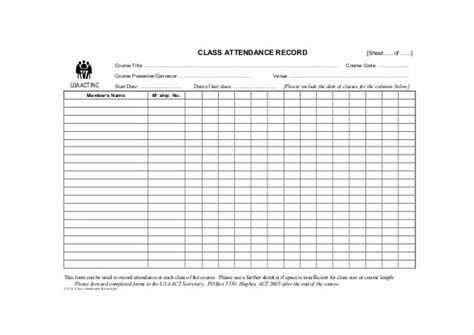 14 Attendance Sheet Templates Pdf Doc Excel Free Premium Templates Time And Attendance Templates Free