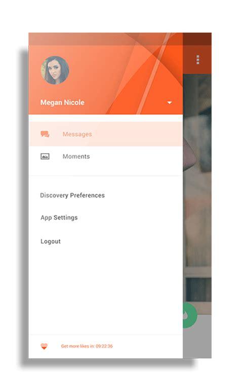design app like tinder tinder app material design concept