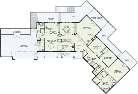 Awesome House Plans With A View 1 Lake House Plans With Rear View Smalltowndjs Com