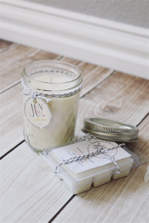 Handmade Scented Candles - jar gift ideas the idea room