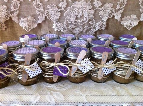 Handmade Bridal Shower Favors - rustic chic wedding shower favors 20 sugar and spice