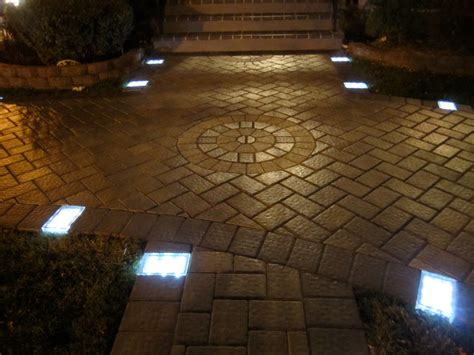 solar lights driveway solar led paver driveway lighting projects
