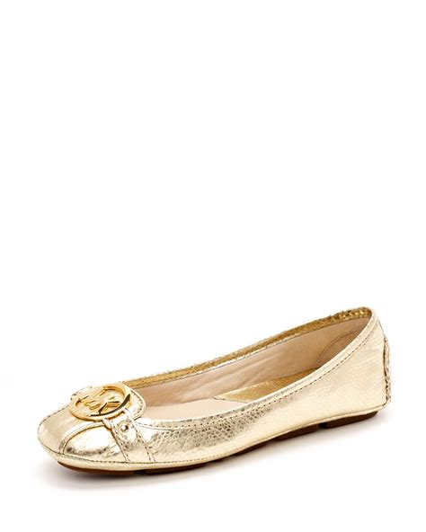 michael kors gold flat shoes michael michael kors fulton moccasin gold in gold lyst