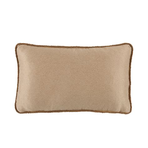 Back Pillows by D1060 Gold Neutral Shagreen Beaded Lumbar Pillow