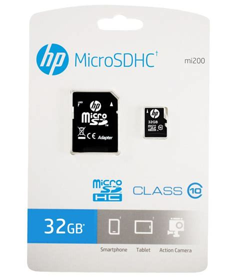 Memory Card Hp 16gb hp 32gb micro sd card class 10 memory cards at