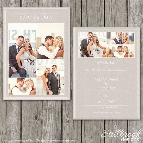 save the date card templates for photographers 11 best wedding save the date stillbrook designs images