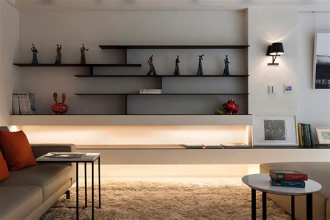 Wall Shelves Ideas Living Room Superb Black Finished Ply Wooden Modern Wall Shelves As Artwork Crafts Display Feat Contemporary