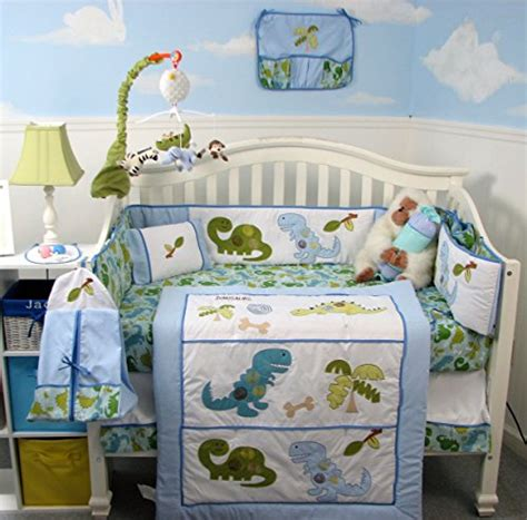 Soho Dinosaur Baby Crib Nursery Bedding Set 14 Pcs Dino Crib Bedding