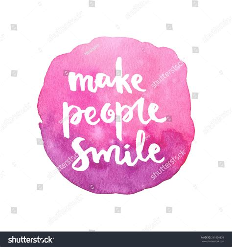 make smile calligraphic stock vektor 291838838