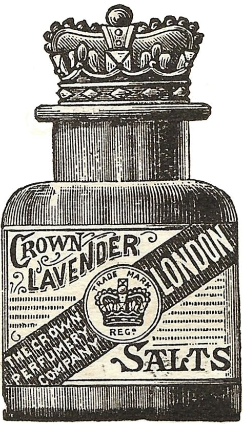 antique graphics  crown lavender bath salts