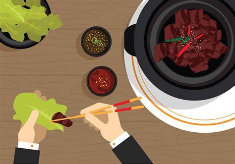 food vector vector bulgogi korean food download free vector art
