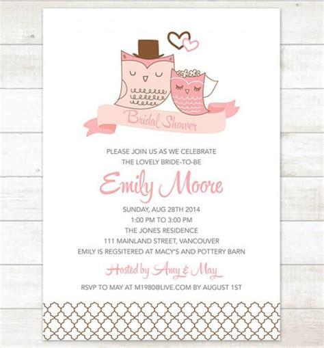 personalised wedding invitations free sles bridal shower invitation printable pink chocolate brown