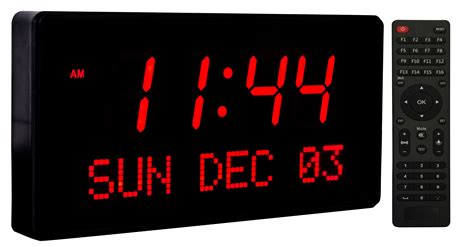 oversized led clock big oversized digital led calendar wall clock