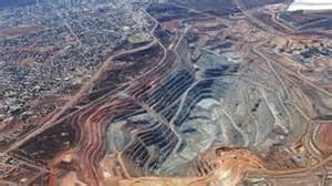 The giant super pit open cut gold mine on the outskirts of kalgoorlie