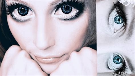tutorial makeup doll eyes big anime doll eyes makeup tutorial makijaż na lalkę